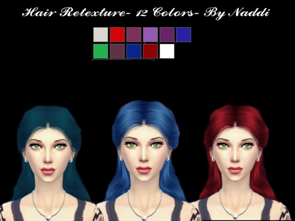 The Sims Resource: Anto`s hair retextured V5 by Naddiswelt for Sims 4
