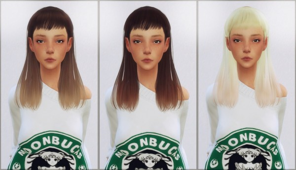 Ellie Simple: Dani paradise Gigi hair retextured for Sims 4