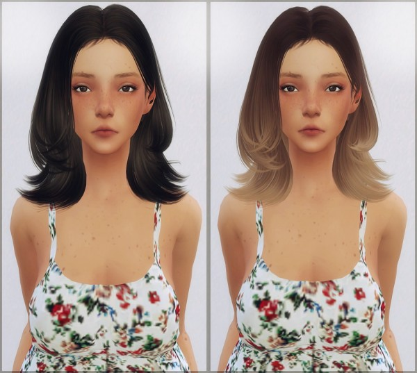Ellie Simple: Skysims 120 hair retextured for Sims 4