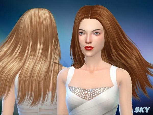 The Sims Resource: Afra 282 hair by Skysims for Sims 4