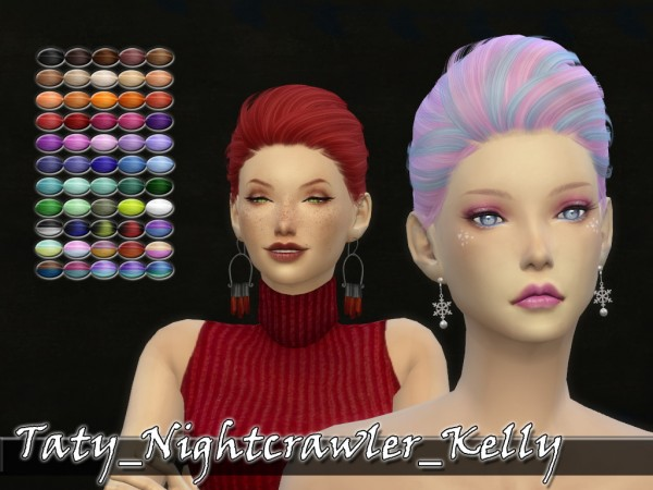 Simsworkshop: Nightcrawler`s Kelly hair retextured by Taty for Sims 4