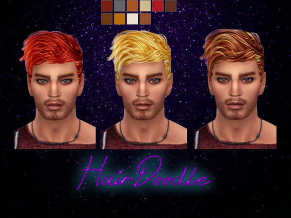 The Sims Resource: 10 Recolors of Stealthic Wavves by HairDoodle for Sims 4