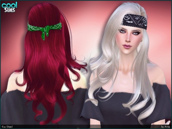The Sims Resource: Kiss Hair by Anto for Sims 4