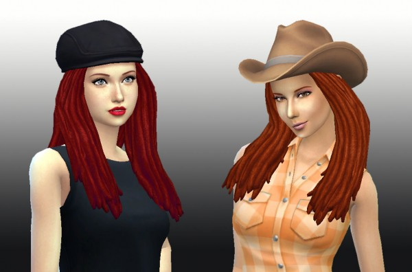 Mystufforigin: Dreads hairstyle for Sims 4