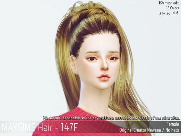 MAY Sims: May Hair 147F for Sims 4