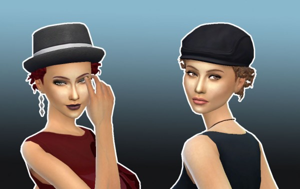 Mystufforigin: Close curls for Her for Sims 4