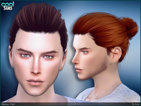 The Sims Resource: Blackout Hair by Anto for Sims 4