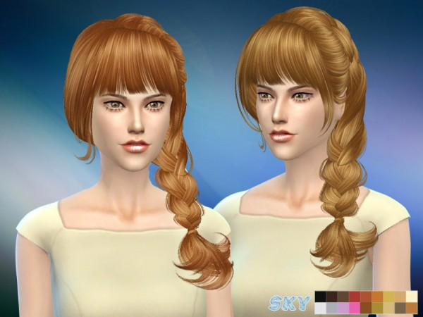 The Sims Resource: Aliza 057 hair by Skysims for Sims 4