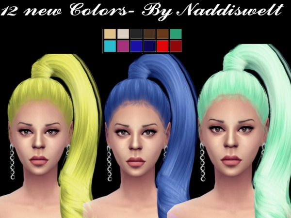 The Sims Resource: Retexture Hair V10 by Naddiswelt for Sims 4
