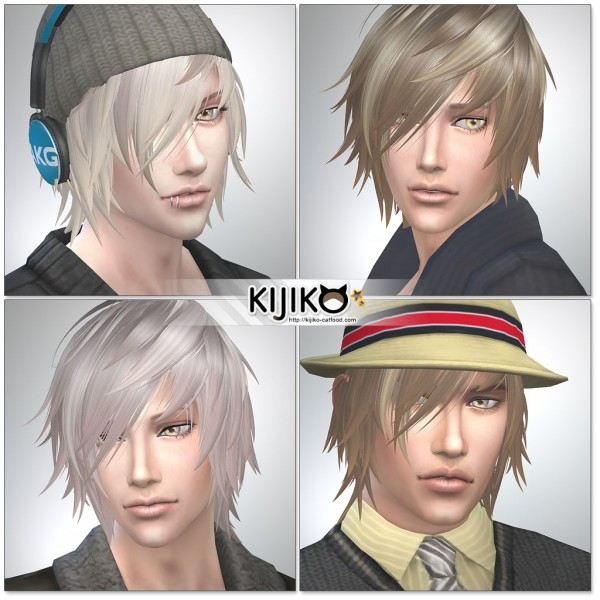 Sims 4 Hairs Kijiko Sims White Toyger Kitten Ts4 Edition For Male