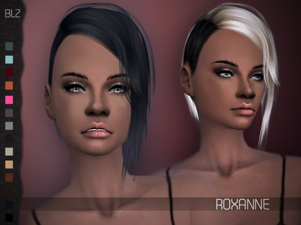The Sims Resource: Roxanne Hair retextured by  BLZ for Sims 4