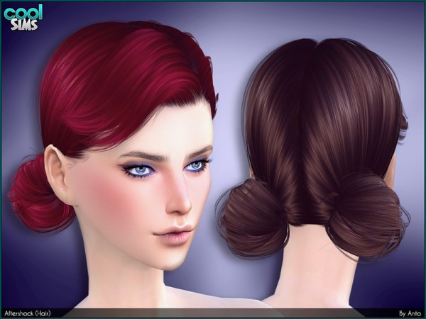 The Sims Resource: Aftershock hair by Anto   for Sims 4