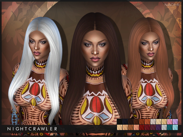 The Sims Resource: Naomi hair by Nightcrawler for Sims 4