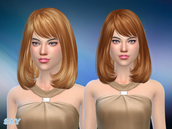 The Sims Resource: Hair 141 by Skysims for Sims 4