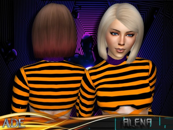 The Sims Resource: Alena hair by Ade Darma for Sims 4