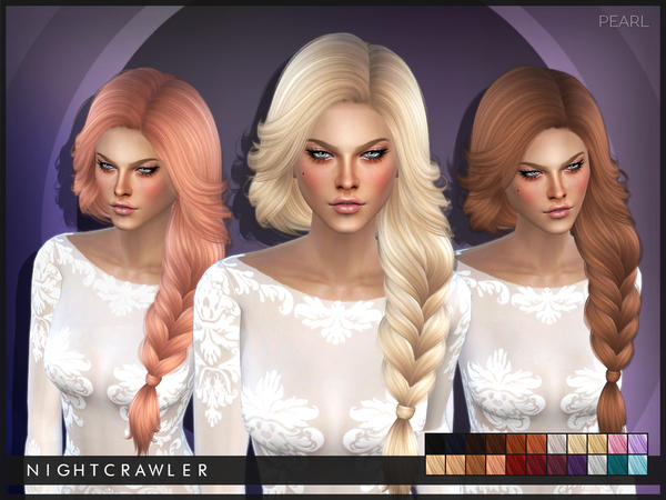 The Sims Resource: Pearl hair by Nightcrawler  for Sims 4
