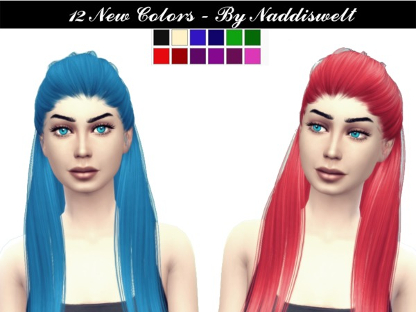 The Sims Resource: Hair V6 retextured by Naddiswelt for Sims 4