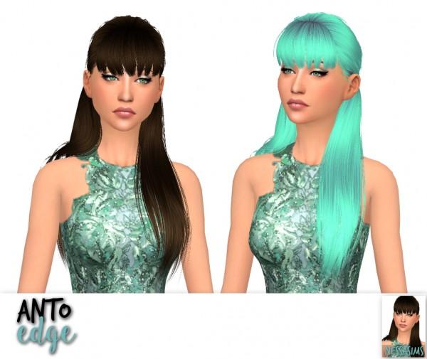 Nessa sims: Anto`s Circus, Darko, Edge,G alactic, Gecko, Glow hair retextures for Sims 4