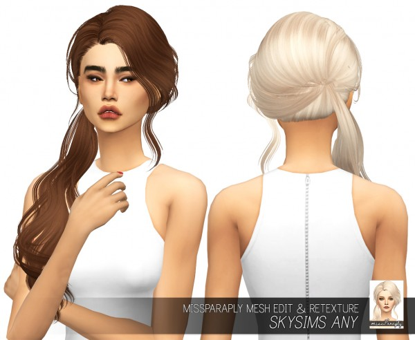 Miss Paraply: Skysims Any hair retextured for Sims 4