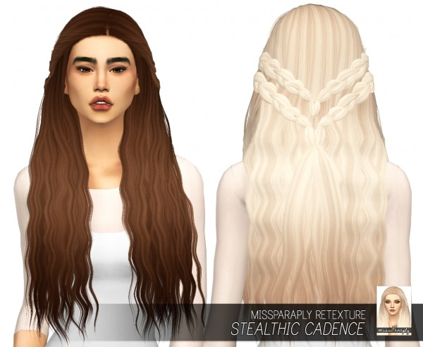 Miss Paraply: Stealthic`s Cadence hair retextured for Sims 4