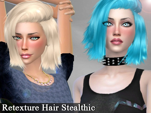 The Sims Resource: Stealthic High Life hairstyle retextured by for Sims 4