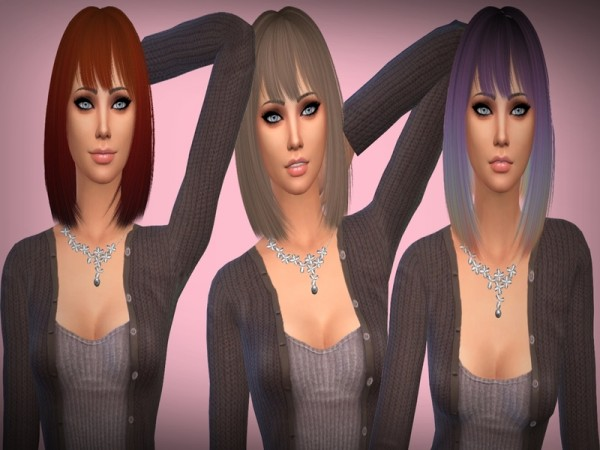 The Sims Resource: Nightcrawler   Silver Hair Retextured by mikerashi for Sims 4