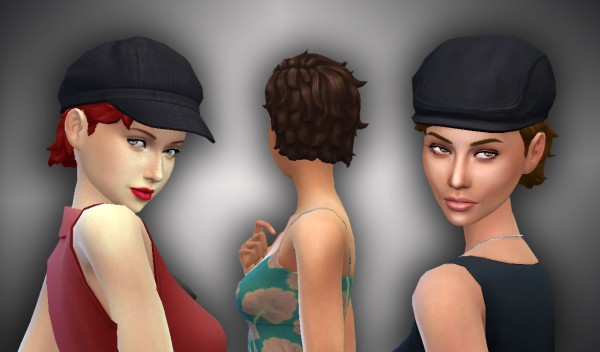 Mystufforigin: Med Relaxed hair conversion for Sims 4