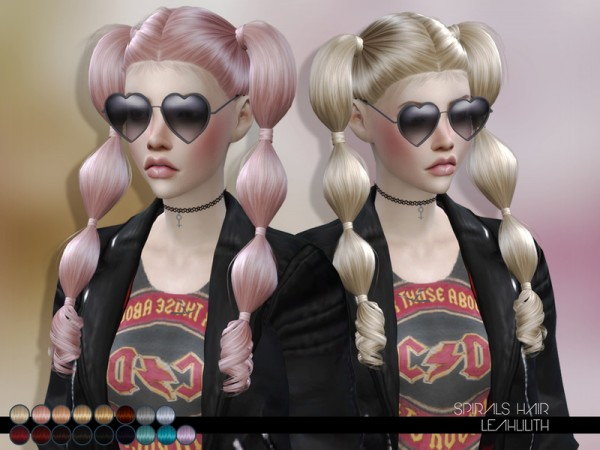 The Sims Resource: Spirals Hair by LeahLillith for Sims 4