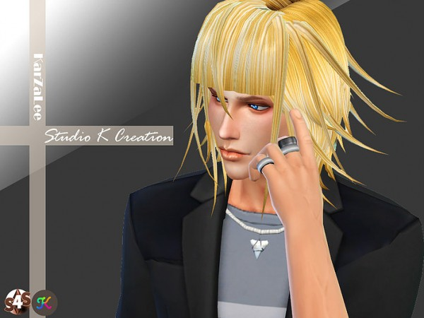 Studio K Creation: Animate hair 36   Crona for Sims 4