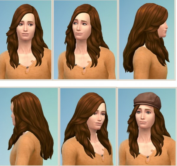 Birksches sims blog: Long Soft Hair for him for Sims 4