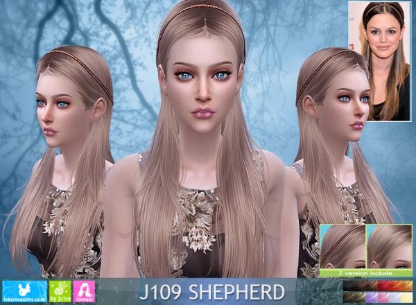 NewSea: J109 Shepherd hair for Sims 4