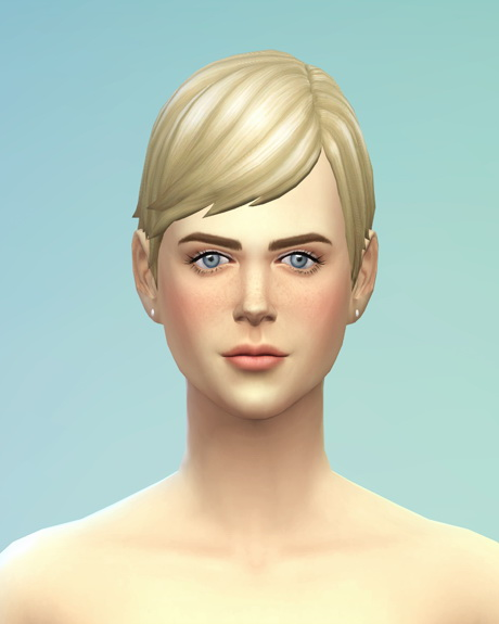 Rusty Nail: Straight bob hair edit for Sims 4