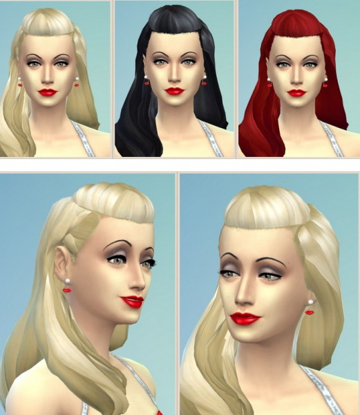 Birksches sims blog: Old Movie Hair for Sims 4