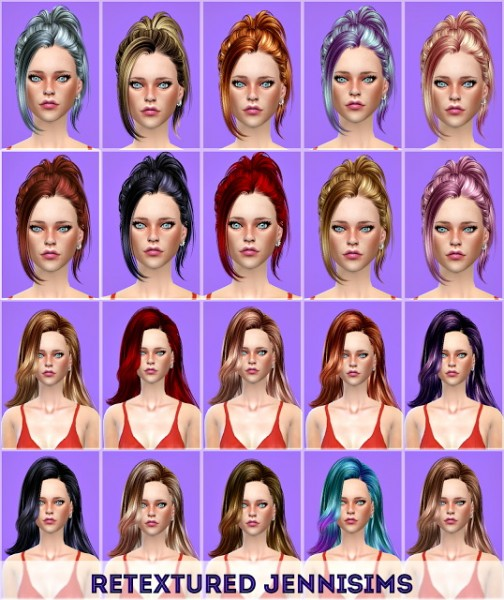 Jenni Sims: Butterfly`s 171,060 hairs retextured for Sims 4