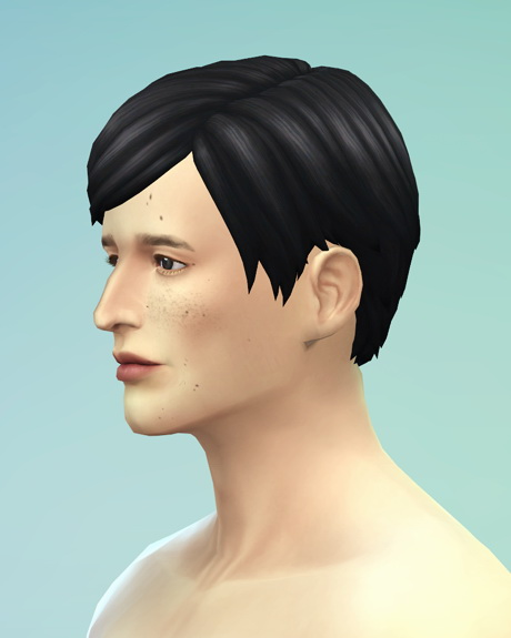 Rusty Nail: Straight bob hair edit for him for Sims 4