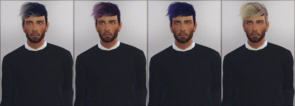 Ellie Simple: Stealthic hair retexture ombré for Sims 4