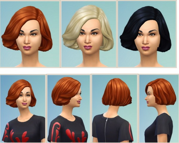 Birksches sims blog: Half soft hair for her for Sims 4
