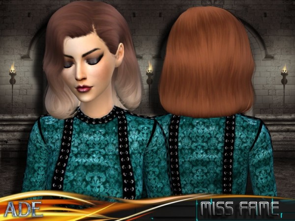 The Sims Resource: Ade   Miss Fame hair for Sims 4