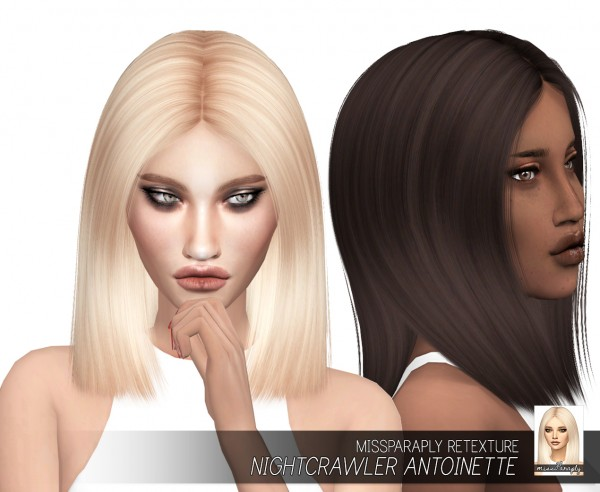 Miss Paraply: Nightcrawler Antoinette hair retextured for Sims 4