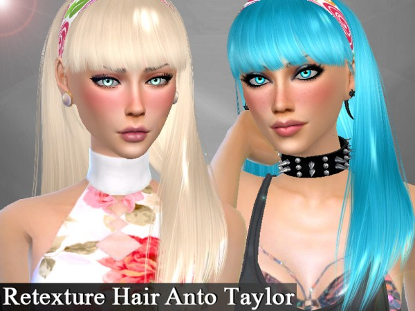The Sims Resource: Anto`s Taylor hair retextured by Genius666 for Sims 4