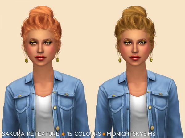 Simsworkshop: Sakura natural hair retextured by midnightskysims for Sims 4