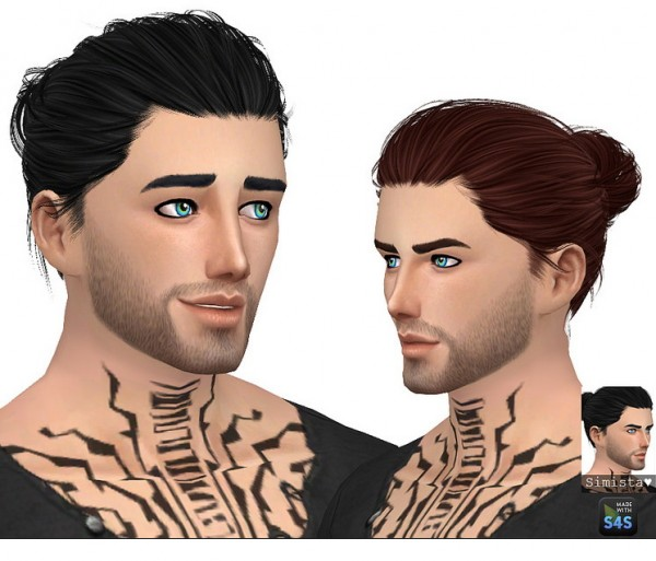 Simista: Anto`s Blackout hair retextured for Sims 4