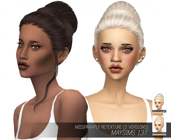 Miss Paraply: Maysims 137 hair retextured for Sims 4