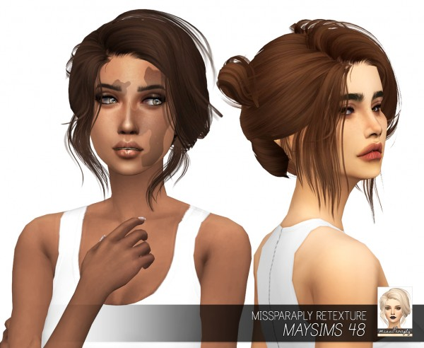 Miss Paraply: Maysims 48 hair retextured for Sims 4
