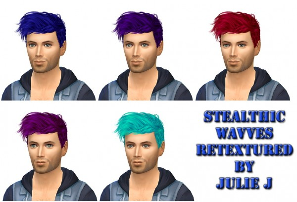 Simsworkshop: Stealthic Wavves Retextured by Julie J for Sims 4