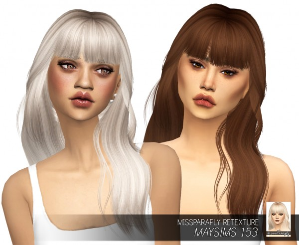 Miss Paraply: Maysims 153 hair retextured for Sims 4