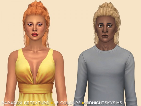 Simsworkshop: Paradox Retexture natural colors by midnightskysims for Sims 4