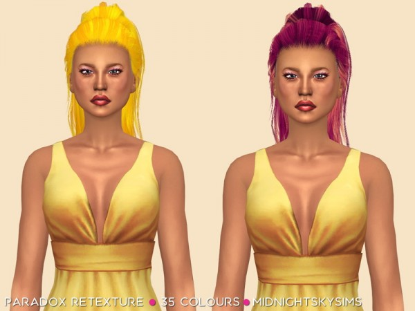 Simsworkshop: Paradox Unnatural Colors Retextured  by midnightskysims, for Sims 4