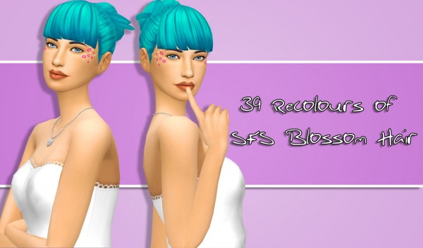 Simsworkshop: LeahLilith`sBlossom hair retextured by xDeadGirlWalking for Sims 4