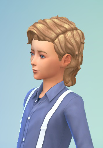 Birksches sims blog: Windy Hair for Boys for Sims 4
